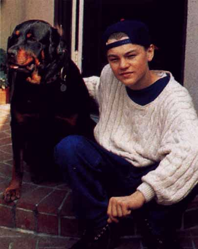 leonardo dicaprio young photos. A young Leonardo at his house
